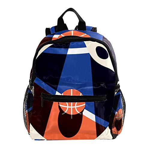 Basketball Sportif Sac À Dos 3-8 Ans Enfants Léger Toddler Daypack pour Maternelle Et Le Voyage De Bébé Sac À Langer 25.4x10x30CM