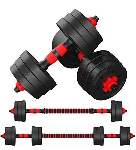 N/Y Adjustable Dumbbells Set,Exercise Fitness Free Weights Dumbbell (88LBS) for Men and Women with Connecting Rod Can Be Used As Barbell for Home Gym, Workout Training
