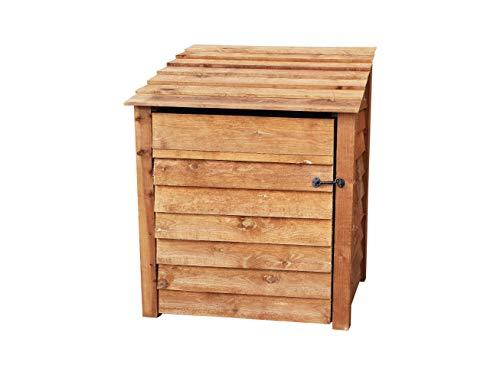 Arbor Garden Solutions Wooden Log Store With Door 4Ft (1 cubic meter capacity) (W-99cm, H-126cm, D-81cm)