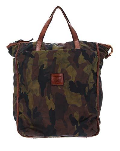 Campomaggi Backpack V.Camou + T/Cognac