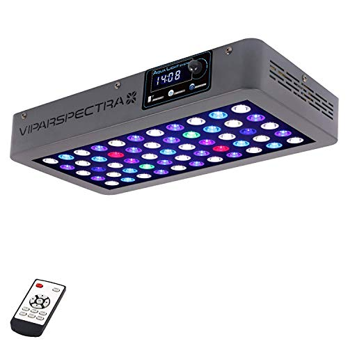 VIPARSPECTRA Timer Control Dimmable 165W LED Aquarium Light Full Spectrum for Grow Coral Reef Marine...