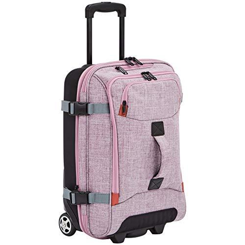 AmazonBasics Rolling Travel Duffel Bag Luggage with Wheels, Small, Purple