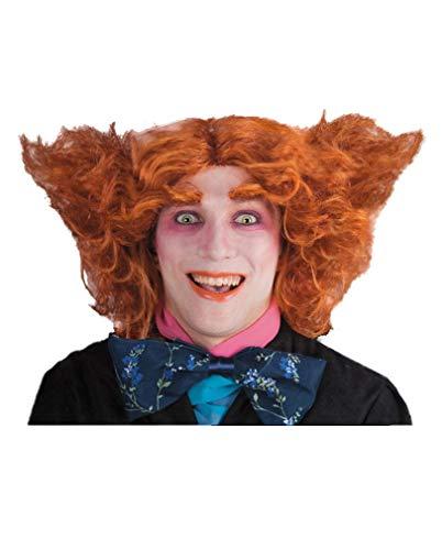 Horror-Shop Verrückter Hutmacher Perücke orange