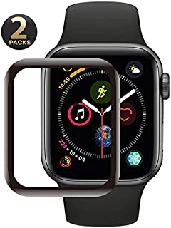 Screen Protector for Apple Watch Slim Case for Apple Watch Series 3 (44mm) (2pcs) Maximum Coverage Anti-Foam HD Transparent, Lifetime Replacement Warranty