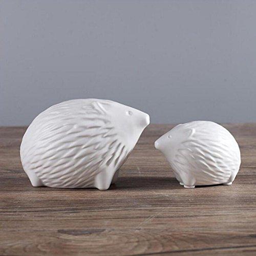 SHILONG Sculpture en Céramique Minimaliste Moderne Noir Et Blanc Hérisson Maison Artisanat Mode Chambre Salon Meuble TV Ornements Décoratifs (Color : A)
