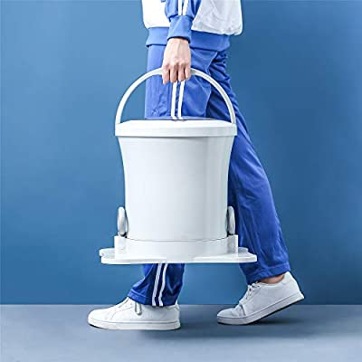Mini Manual Clothes Dryer Portable Washing Machine Drawstring Dehydrator Laundry Dryer Machine Alternative Compact Spin Dryer For Camping Apartments(Blue) (white)