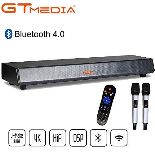GTmedia Barra de Sonido TV con Sonido Estéreo 5.1, Bluetooth 4.0, Reproductor Multimedia y Altavoz Hi-Fi Separado, Subwoofer, 4K/Ultra HD 1080P H.265 MPEG-4 Películas, Compatible con Ott IPTV