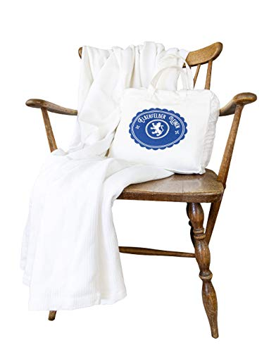 Langdhuus Tagesdecke Superior | 220 x 240 cm | Bettüberwurf | Überdecke | weiß | 100prozent Bio Baumwolle | Sommerdecke | Couchdecke | Sofadecke | Doppelbett Plaid | Ribbed Ho&stooth Muster