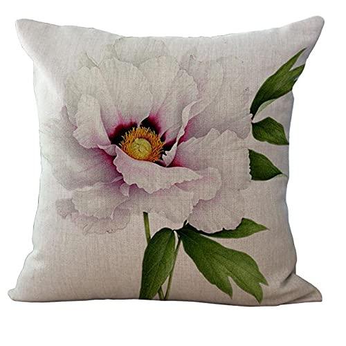 MissW Serie De Flores De Plantas Funda De Almohada Decorativa Impresa Sin Núcleo De Almohada Cremallera Funda De Cojín Lavable Funda De Almohada Adecuada para Sofá Dormitorio Oficina