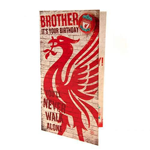Geburtstagskarte für Bruder, Motiv Liverpool F.C.,