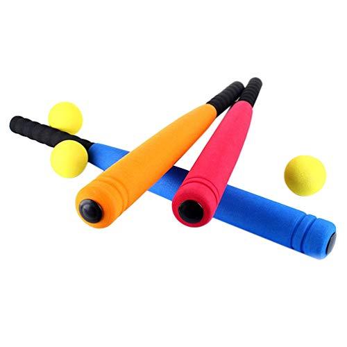 Garneck 1 Juego de Juguetes de Bate de Béisbol de Espuma para Niños Palo de Béisbol para Niños Deportes Al Aire Libre (Color Aleatorio)