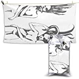 Badetuch, Beach Towels Sketch of Ocean Octopus Girl Hand Towel Sheets Bath Linen Fast Dry Blanket Hiking Travel Oversized Large Pool Swimsuits Covers Novelty Bathroom Washcloths Yoga Mat for Foot