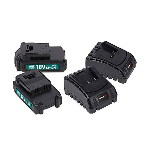 Power Plus POWEB9090 POWEB9090 Pack met 2 batterijen 18 V litio 1,5 Ah + 2 hammen