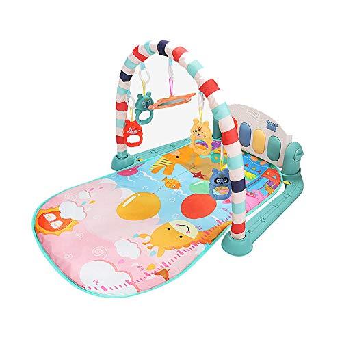 SMUOO Multifunktions-Aktivspielmatte für Babyspielgymnastik mit Musik, Lichtern und Tönen Spielzeug für Säuglinge, Neugeborene, Mädchen und Jungen im Alter von 1 bis 36 Monaten-Grün