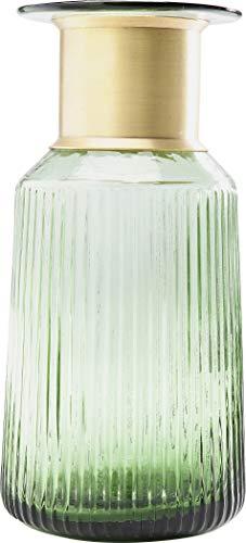 Kare Design Vase Barfly Green 30cm, schöne Blumenvase in grün und gold,...