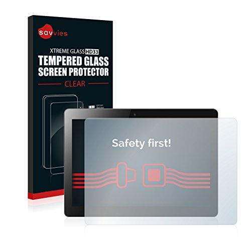 savvies Cristal Templado Compatible con Lenovo MIIX 300 10 Protector Pantalla Vidrio Proteccion 9H Pelicula Anti-Huellas