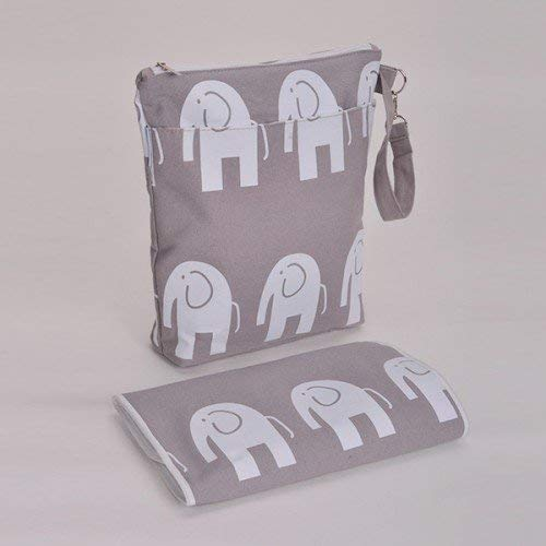 Bambino Baby Verwisselbare Tas & Mat Luiertas Mummy Tas (Elephant)
