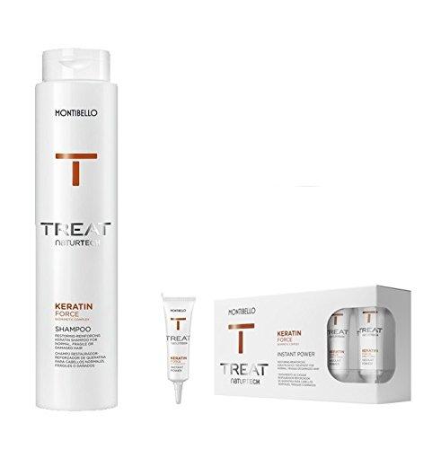 montibello naturtech Keratin Force Shampoo 500ml y Instant Power 12ml (10)