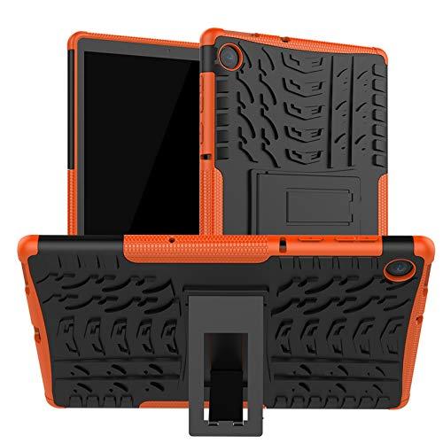 DWaybox Custodia per tablet Lenovo M10 Plus 10,3 pollici 2020 armor Heavy Duty Combo TPU Soft + PC Hard 2 in 1 Custodia protettiva a doppio strato con supporto - arancione