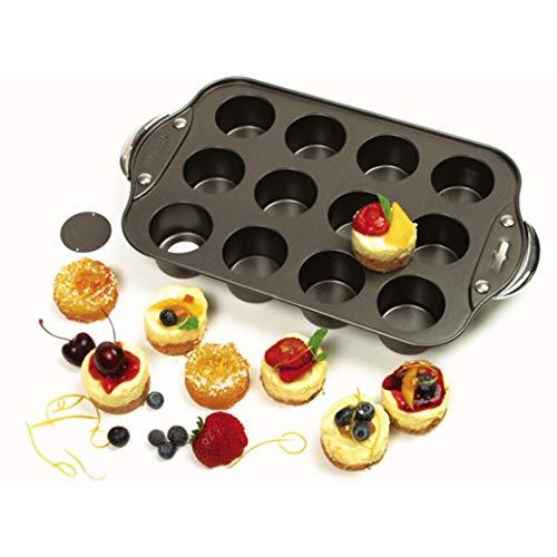 Norpro Antiadherente 12 Mini Tarta de Queso/Muffin Quiche Cupcake Molde Nueva