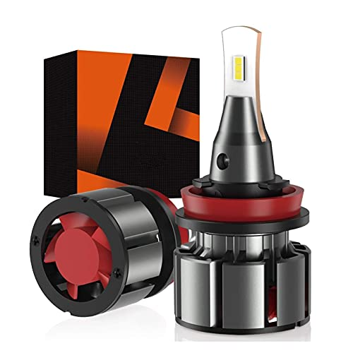 FANGFANGWAN Luces de Coche H7 LED Faro 1500 0lm 80w for Bombilla de Faros LED de automóvil con Resistencia de 2pcs Csp Turbo DIRIGIÓ Bulbos H1 Lámparas de Coche