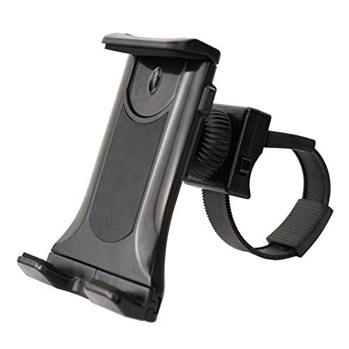 Sunny Health & Fitness Universal Mobile Phone and Tablet Clamp Mount Holder for Bikes, Ellipticals, Treadmills and Other Handlebar Fitness Equipment