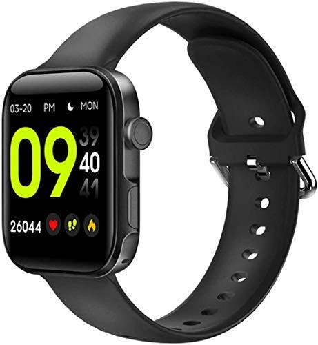 TYUI Reloj inteligente de 1,54 pulgadas, pantalla grande, llamada Bluetooth, compatible con iOS Android Smart Bracelet Reloj de pulsera inteligente, reloj deportivo, rastreador de fitness, color negro