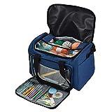 Garn Lagerung Tote Stricktasche, tragbare leichte Reise Garn Lagerung Einkaufstasche Häkeln liefert Organizer & WIP Projekt Halter für Häkelnadeln & Stricknadeln Kit