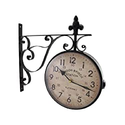 Zeckos London Bridge Station Double Sided Wall Mounted Clock