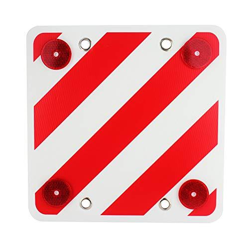 ValmoniSport Panel Reflector Trasero para señalización de Cargas,Cuadrada, Visibilidad Noche Molcar 40x40cm
