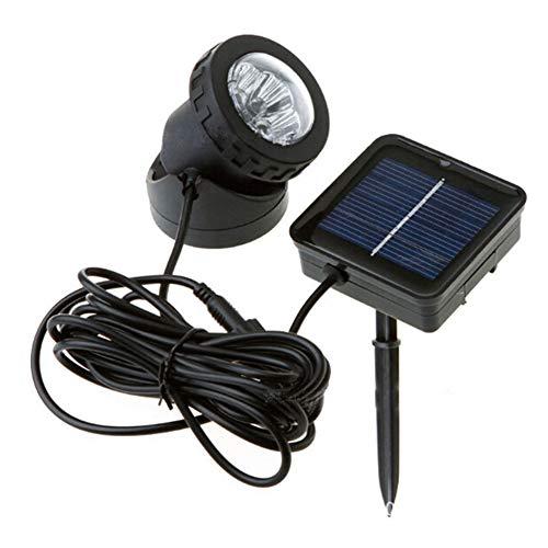 Foco LED sumergible con energía solar, resistente al agua, lámpara de proyección de estanque de piscina, 90 °, ajustable, para exteriores, para decoración de jardín, alberca