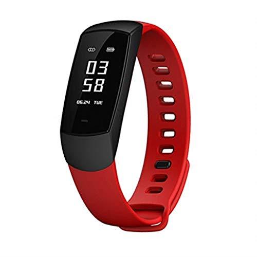 Rsiosle Fitness Tracker HRV Smart Armband mit medizinischem Herzfrequenz-Messgerät Blutsauerstoffmonitor Schlafmonitor-Aktivitäts-Trackern für Android/iOS (Farbe : Rot)