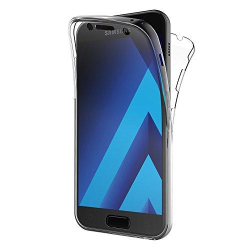 AICEK Samsung Galaxy A5 2017 Hülle, 360° Full Body Transparent Silikon Schutzhülle für Samsung A5 2017 Hülle Crystal Clear Durchsichtige TPU Bumper Galaxy A5 2017 Handyhülle (SM-A520F 5,2 Zoll)