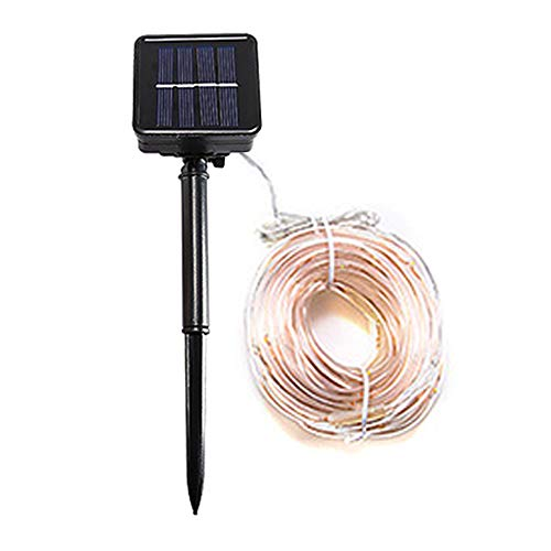 Solar Rope String Light Garden Decoration Outdoor Waterproof Rope String Christmas Lamp Wedding Party Tree Xmas Decoration with Solar-Powered Panel