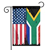 American South African Flag Garden Flag Welcome & Happy Birthday Flags For Celebration,Festival,Home,Outdoor,Garden Decorations 12 X 18 Inch