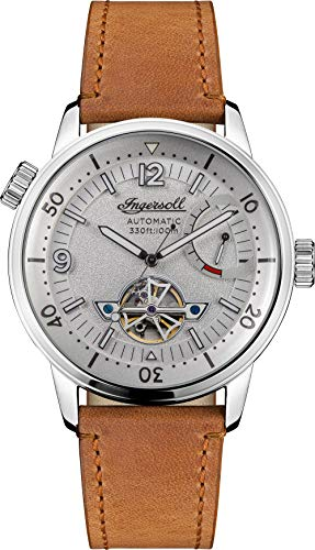 Ingersoll The New Orleans Gents Automatic Watch I07802 with a Stainless Steel case and Genuine Horween Leather Strap