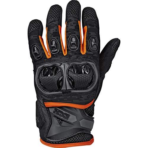 IXS Motorradhandschuhe kurz Motorrad Handschuh Montevideo Air S LT Handschuh schwarz/grau/orange 3XL, Herren, Tourer, Ganzjährig, Leder