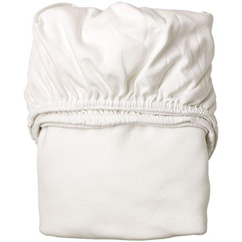 Leander Doppelpack weiches Jersey-Bettlaken für Babybett (weiß)