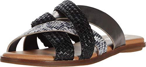Aerosoles Women's Sandal, Flat, BLK WHT Snake, 8.5