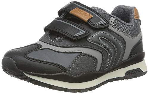 Geox Jungen J Pavel A Sneaker, DK Grey, 33 EU