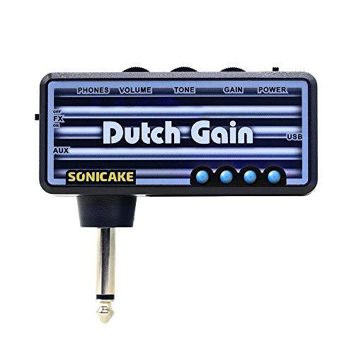 SONICAKE Amplificador de bolsillo para uso con auriculares Dutch Gain para guitarra