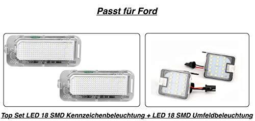 StickandShine 7908 - Set illuminazione LED 18 SMD + LED 18 SMD per targa