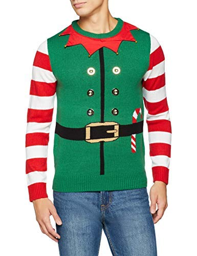 [Medium] The Christmas Workshop Elf Suit 3D Jumper, Green, Medium