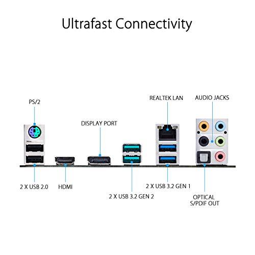 ASUS PRIME Z490-P, Scheda Madre Intel Z490 (LGA 1200) ATX con Doppio M.2, 11 Fasi di Potenza DrMOS, Lan 1 Gb, HDMI, DP, SATA 6Gbps, USB 3.2 Gen 2, Supporto Thunderbolt 3, RGB Aura Sync