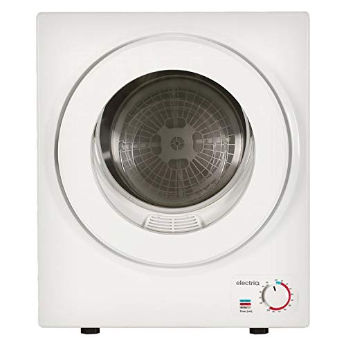 electriQ Mini Tabletop Compact 2.5kg Vented Tumble Dryer - White
