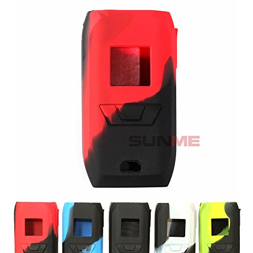 SUNME Protective Silicone Cases Sleeves for Vaporesso Revenger 220W Mod Kit Skin Wrap (Red/Black)