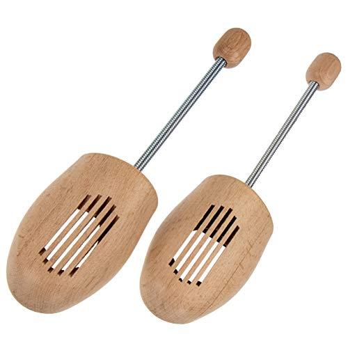 Langlauf Schuhbedarf Holz Schuhspanner mit Spiralfeder – Made in Germany – Buchenholz aus nachhaltiger Forstwirtschaft Gr. 44/45