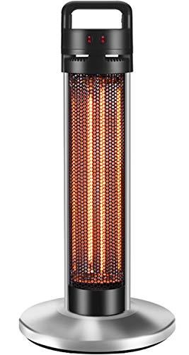 QIQI Calefactor Vertical,Fácil de Mover Calefactor De Infrarrojos para Dormitorios Exteriores,Negro