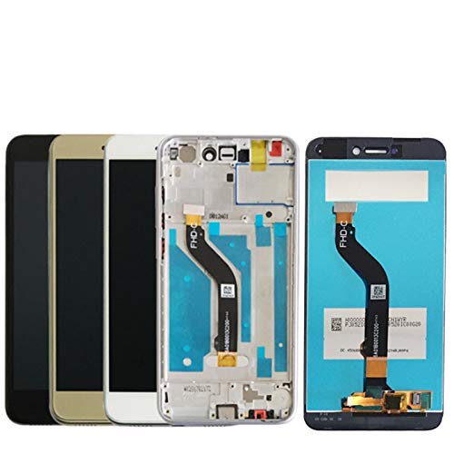 MOLIBAIHUO Compatible con Huawei P8 Lite 2017 Pantalla LCD Reemplazo Compatible con Huawei P9 Lite 2017 Pantalla LCD Pra-LA1 Pra-LX1 LCDs (Color : White with Frame)