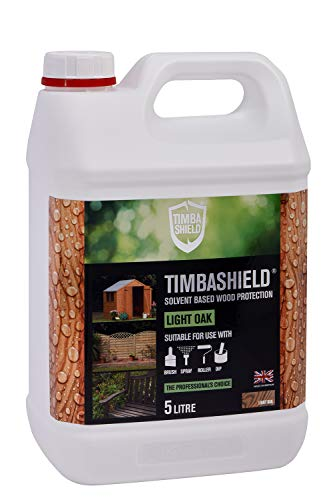 Timbashield Woodstain/Treatment - Premium Solvent Based Protection - 5 Litre - Various Colours (Light Oak)